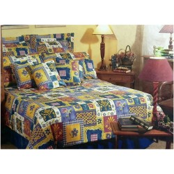 Buy more Pay Less offer Mora Percale Bedsheet D236 Blue  4pc King Set