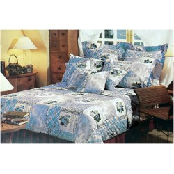 Buy more Pay Less offer Mora Percale Bedsheet D246 Blue  4pc King Set